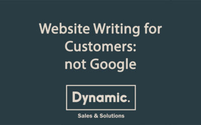 Website Writing for Customers – not Google!