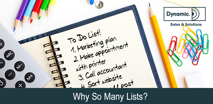 Why So Many Lists?