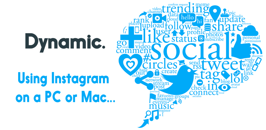 Using Instagram on a PC or Mac