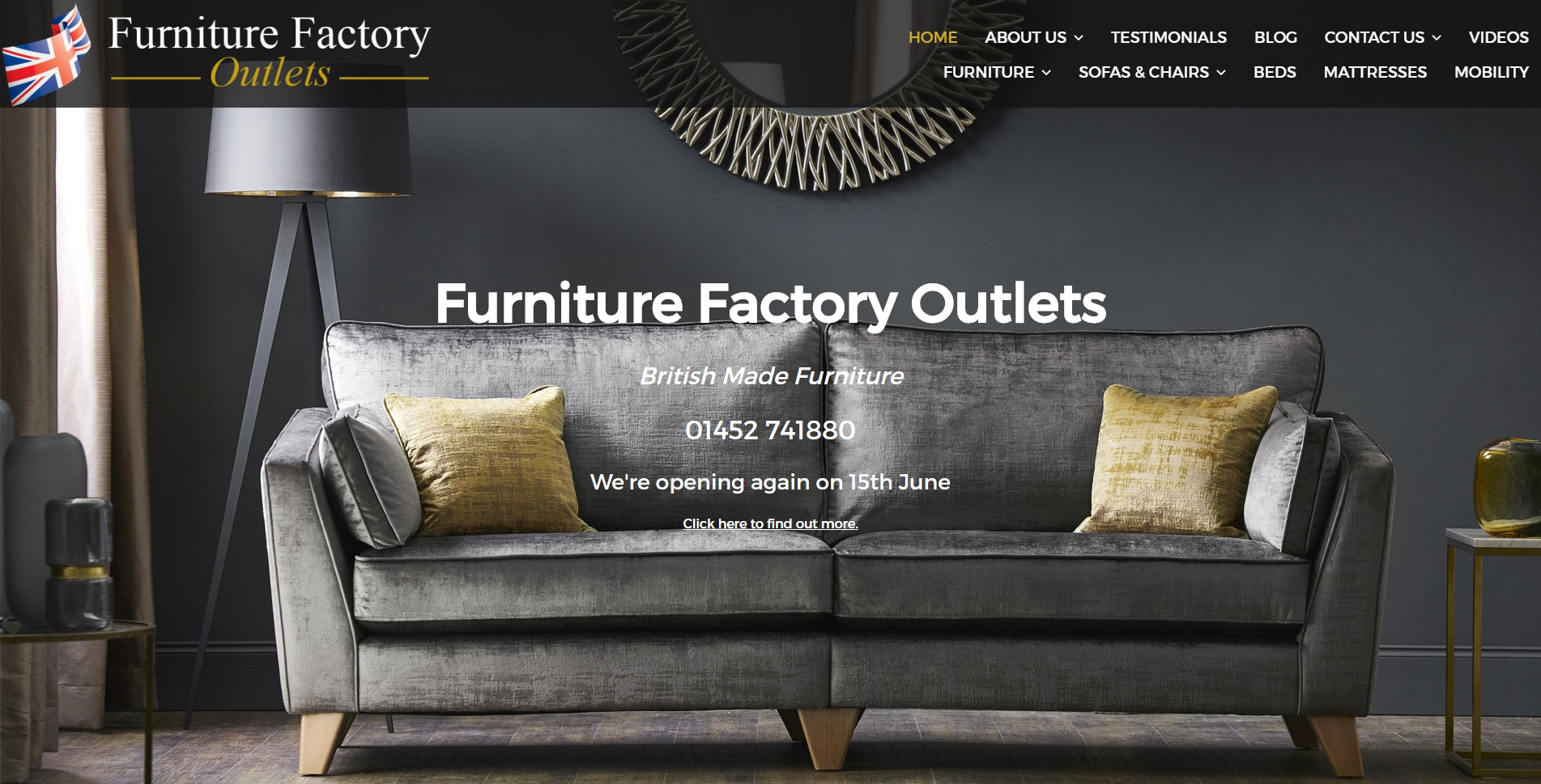 Furniture Factory Outlets Screenshot