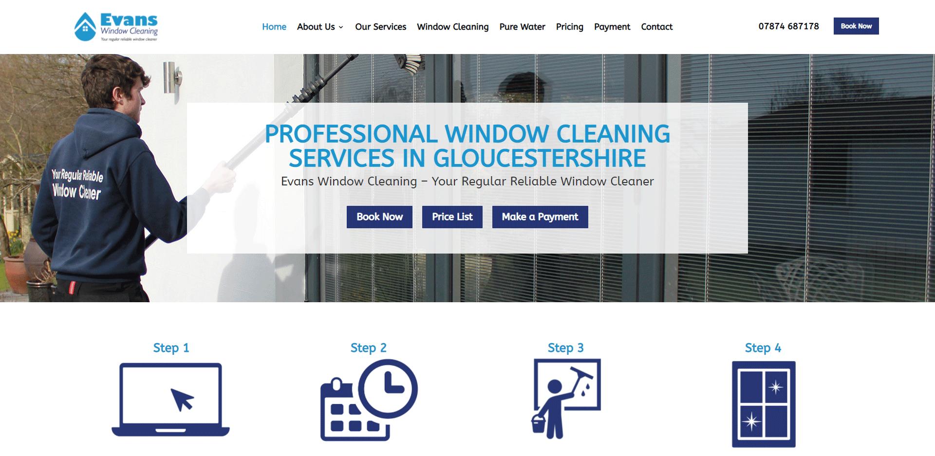 Evans Window Cleaning Screenshot